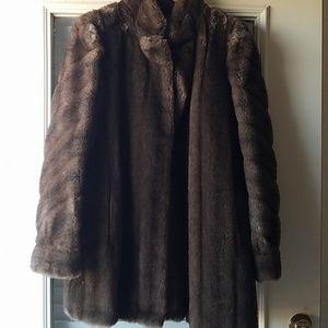 Authentic Tissavel Faux Fur Coat